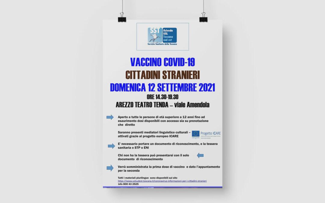 Vaccino Covid-19 cittadini stranieri – Domenica 12 Settembre 2021